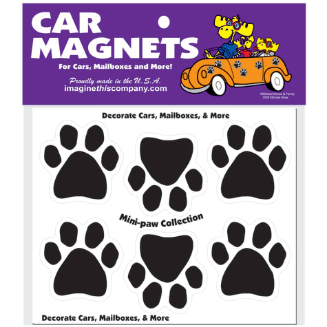 Imagine This Mini Paw Magnets 6 Pack