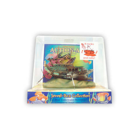 Penn Plax Action-Air Jewel Box Shipwreck Aquarium Ornament