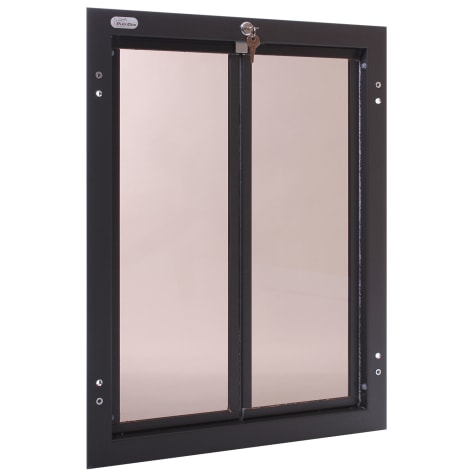 Plexidor Door Mount Pet Door in Bronze