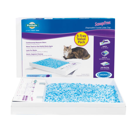 ScoopFree by PetSafe Pack 3 Blue Crystal Litter Tray Refills