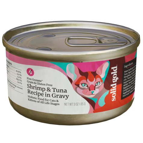 Solid Gold Five Oceans Shrimp & Tuna Grain Free Canned Cat Food