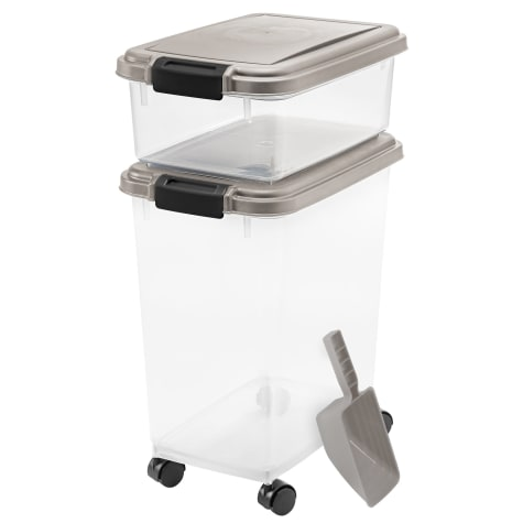Iris Chrome and Clear Airtight Three Piece Food Storage Combo