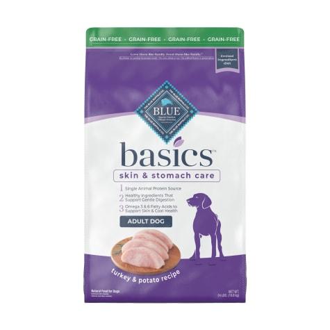 Blue Buffalo Basics Limited Ingredient Diet Natural Adult Grain Free Turkey & Potato Dry Dog Food