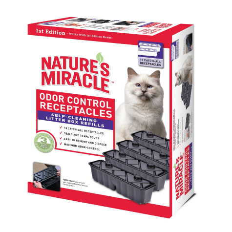 Nature's Miracle First Edition Odor Control Receptacles Refills For Self-Cleaning Litter Boxes