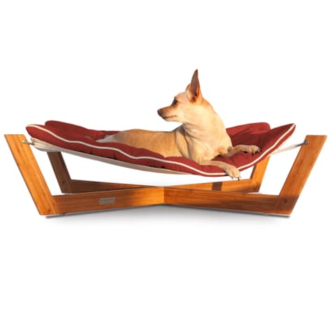 Pet Lounge Studios Bambu Cross Hammock Pet Bed in Orange