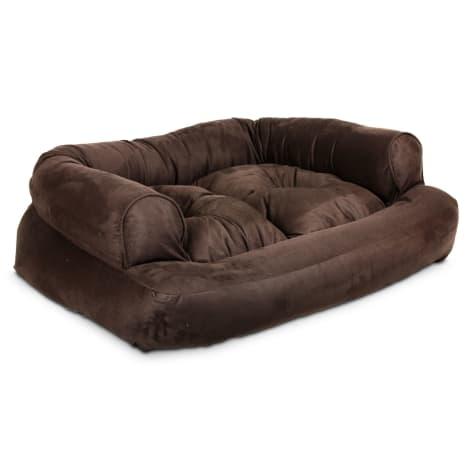 Snoozer Luxury Overstuffed Sofa in Hot Fudge