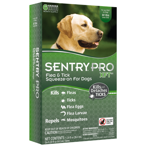 Sentry Pro XFT Squeeze-On Dogs Over 61 lbs. Flea & Tick Treatment