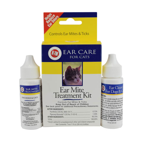 Miracle Care R-7M Ear Mite Cat Treatment Kit