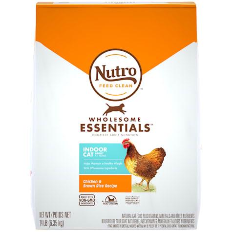 Nutro Wholesome Essentials Indoor Farm-Raised Chicken & Brown Rice Recipe Dry Adult Cat Food