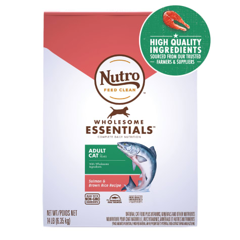 Nutro Wholesome Essentials Adult Salmon & Brown Rice Recipe Natural Dry Cat Food