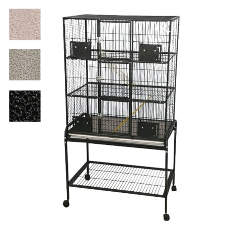 A&E Cage Company 3 Level Small Animal Cage with Removable Base in Black