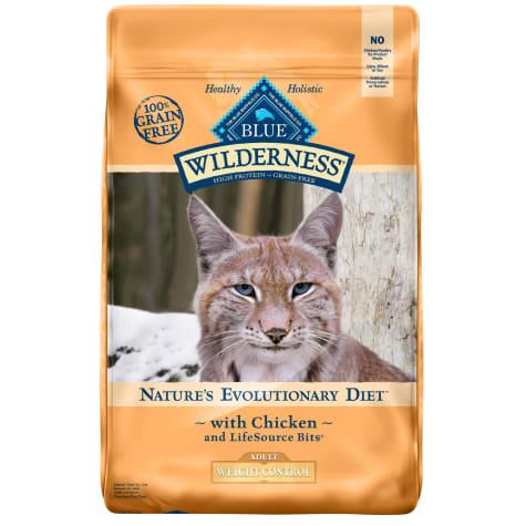 Blue Buffalo Blue Wilderness Adult Weight Control Chicken Recipe Dry Cat Food