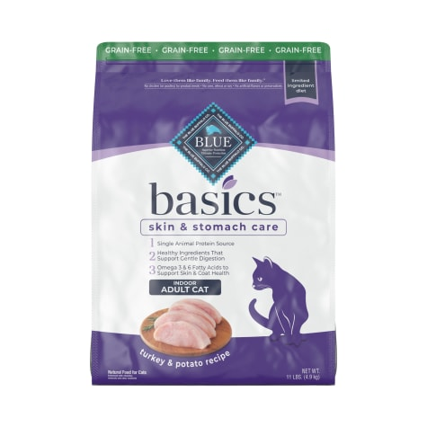 Blue Buffalo Blue Basics Limited Ingredient Grain Free Turkey & Potato Indoor Adult Cat Food