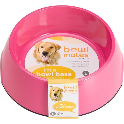 Bowlmates Single Round Base in Pink