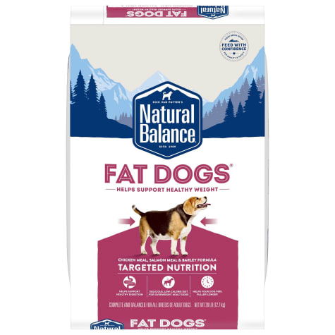 Natural Balance Fat Dogs Chicken Meal, Salmon Meal, Garbanzo Beans, Peas & Oatmeal Dry Dog Food