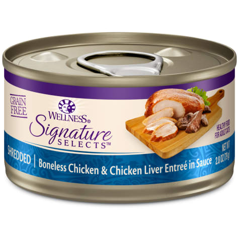 Wellness CORE Signature Selects Natural Grain Free Shredded Chicken & Chicken Liver Wet Cat Food
