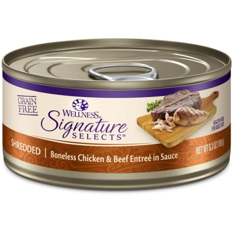 Wellness CORE Signature Selects Natural Grain Free Shredded Chicken & Beef Wet Cat Food