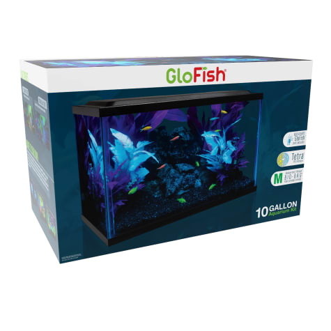 Glofish Glass Aquarium Kit 10 Gallon 18 5 L X 10 5 W X 13 H Petco