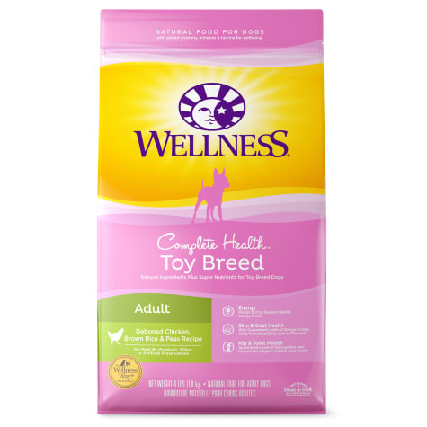 Wellness Complete Health Natural Small Toy Breed Deboned Chicken, Brown Rice and Peas Recipe Dry Dog Food