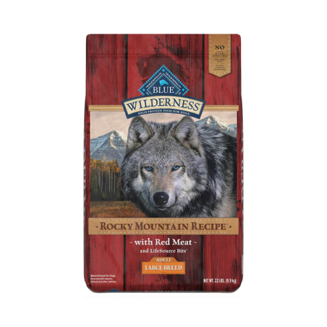 Blue Buffalo Wilderness Rocky Mountain Recipe Natural Adult High Protein Grain Free Large Breed Red Meat Dry Dog Food