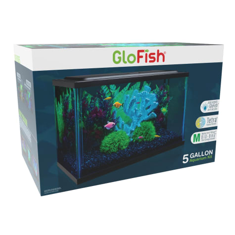 GloFish 5 Gallon Aquarium Kit With Blue & White LEDs