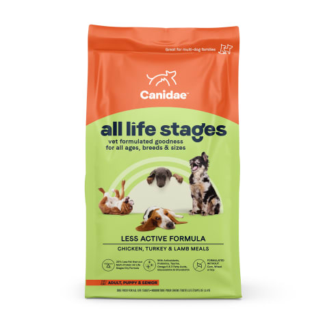 CANIDAE All Life Stages Platinum Less Active Multi-Protein Formula Dry Dog Food