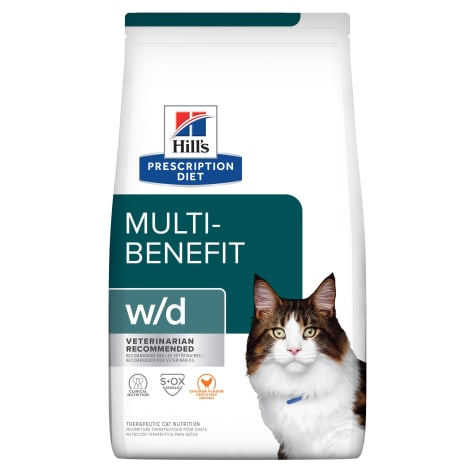 Hill's Prescription Diet w/d Digestive/Weight Management with Chicken Dry Cat Food