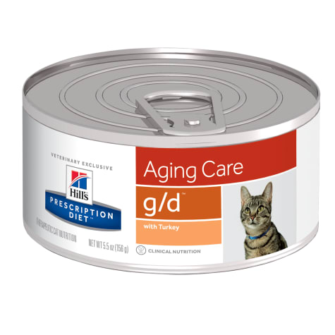 Hill's Prescription Diet g/d Aging Care with Turkey Canned Cat Food
