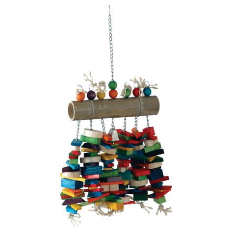 Caitec Bamboo Log Bird Toy