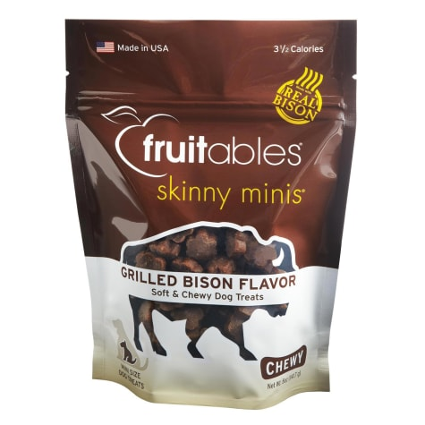 Fruitables Skinny Minis Bison Soft & Chewy Dog Treats