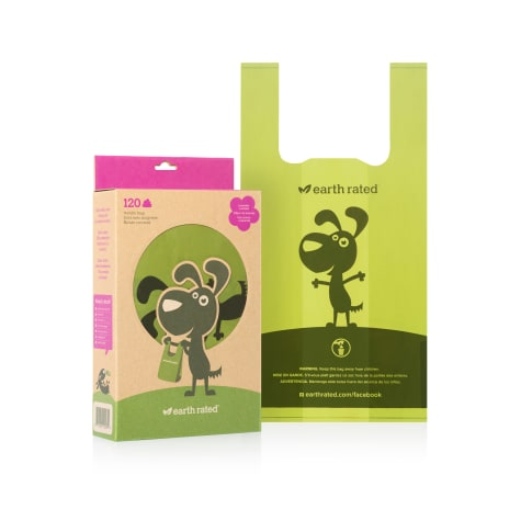 Earth Rated PoopBags Handle-Tie Bags 120 Scented Bags