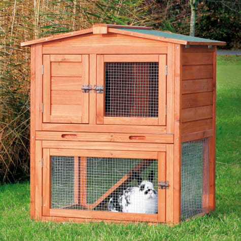 Trixie Natura Two Story Animal Hutch with Gabled Roof