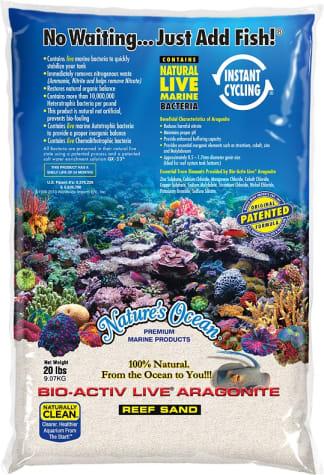 Nature's Ocean Bio-Activ Live Aragonite Reef Sand 0.1-0.5mm