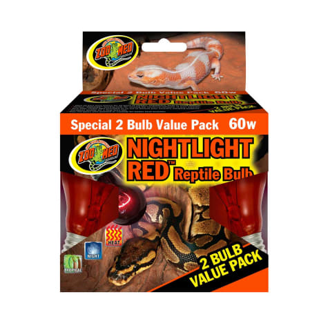 Zoo Med Nightlight Red Bulb for Reptiles, 60 Watts