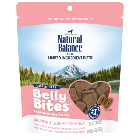 Natural Balance Belly Bites Grain Free Semi-Moist Salmon & Legume Formula Dog Treats