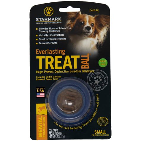 Starmark Treat Ball With Dental Treat in Blue Toy for Dogs