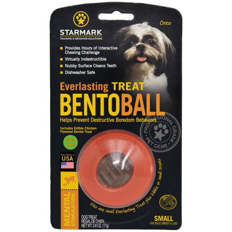 Starmark Everlasting Bento Ball with Dental Treat in Orange