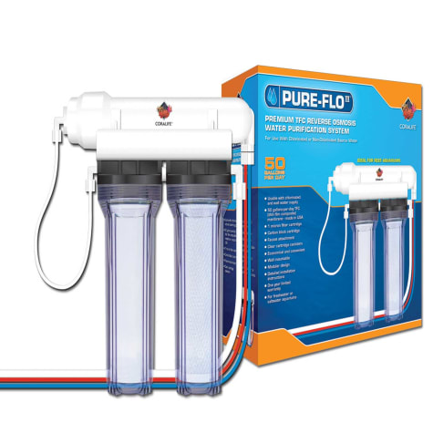 Coralife Pure Flo II Reverse Osmosis 2 Canister System