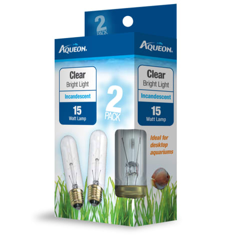 Aqueon Clear Incandescent Bulb, 15 Watts