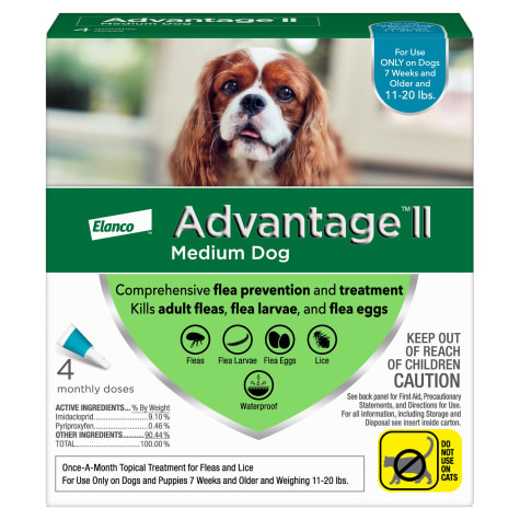 Advantage II Once-A-Month Topical Flea Treatment for Dogs & Puppies 11 to 20 lbs.