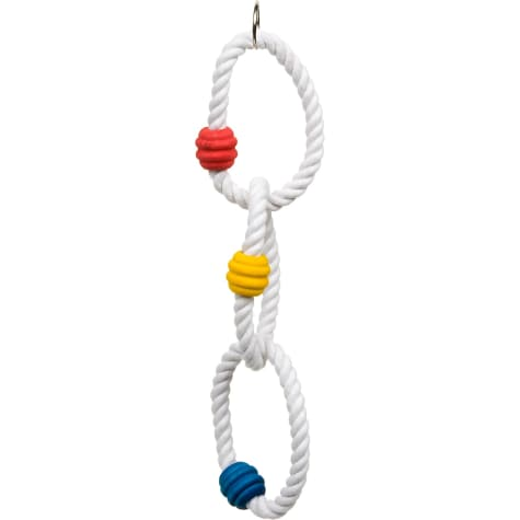 Jungle Talk by eCOTRITION Triple Rope Ring with Blocks Small Bird Exercise Toy