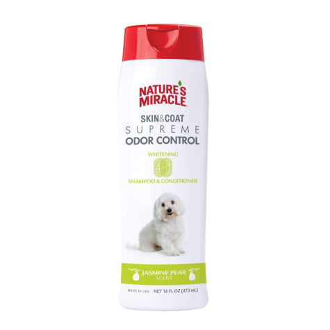 Nature's Miracle Supreme Odor Control Natural Whitening Dog Shampoo & Conditioner