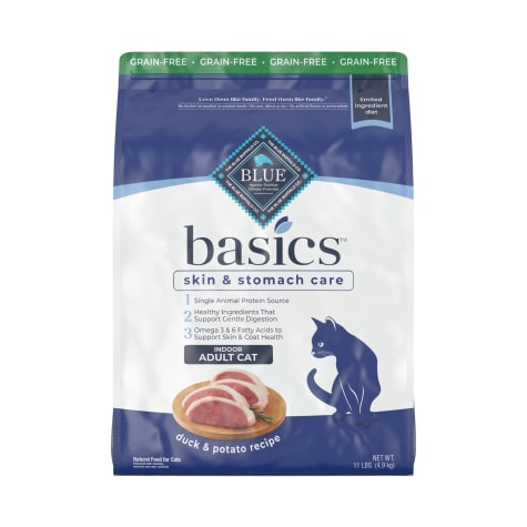 Blue Buffalo Blue Basics Limited Ingredient Grain Free Duck & Potato Indoor Adult Cat Food