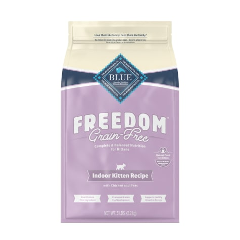 Blue Buffalo Blue Freedom Grain-Free Indoor Kitten Chicken Recipe Dry Cat Food
