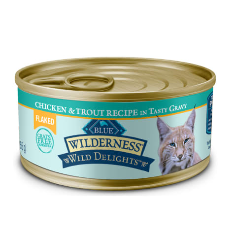 Blue Buffalo Blue Wilderness Wild Delights Flaked Chicken & Trout Recipe Wet Cat Food