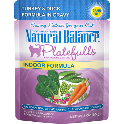 Natural Balance Platefulls Turkey & Duck Formula in Gravy Indoor Adult Wet Cat Food