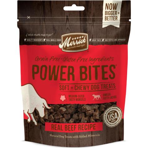 Merrick Power Bites Real Beef Dog Treats
