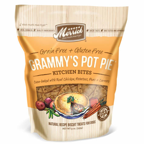 Merrick Grain Free Kitchen Bites Grammy's Pot Pie Dog Treats