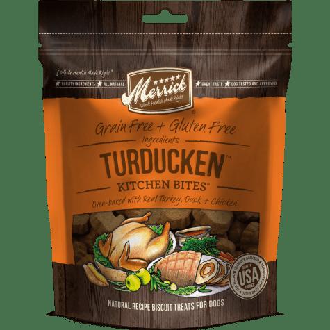 Merrick Grain Free Kitchen Bites Turducken Dog Treats