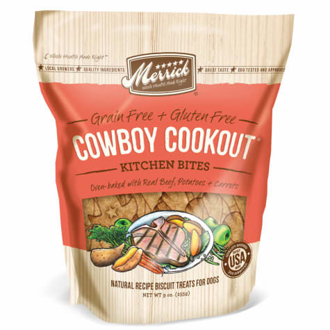 Merrick Grain Free Kitchen Bites Cowboy Cookout Dog Treats